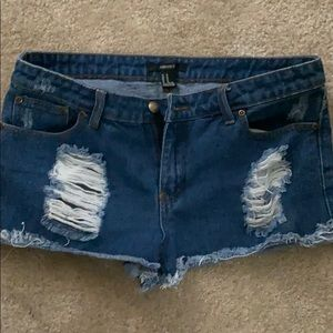 Forever 12 ripped shorts